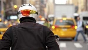 head mounted motorbike inicator