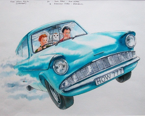 The Flying Ford Anglia Of Harry Potter Car News Sbt