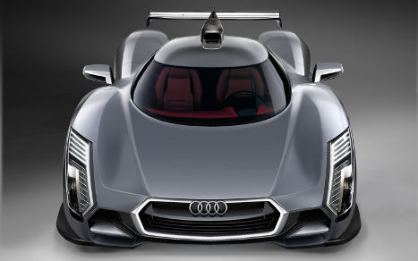Marvelous Audi R20 Development Model Front Overhead View