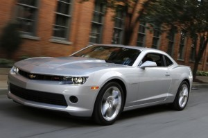 The 2014 Camaro features a standard 3.6L V6 with 323 horsepower.