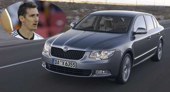 photo of Miroslav Klose Skoda - car