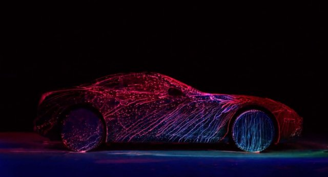Ferrari In A Neon Paint Will Shock You In Awe!