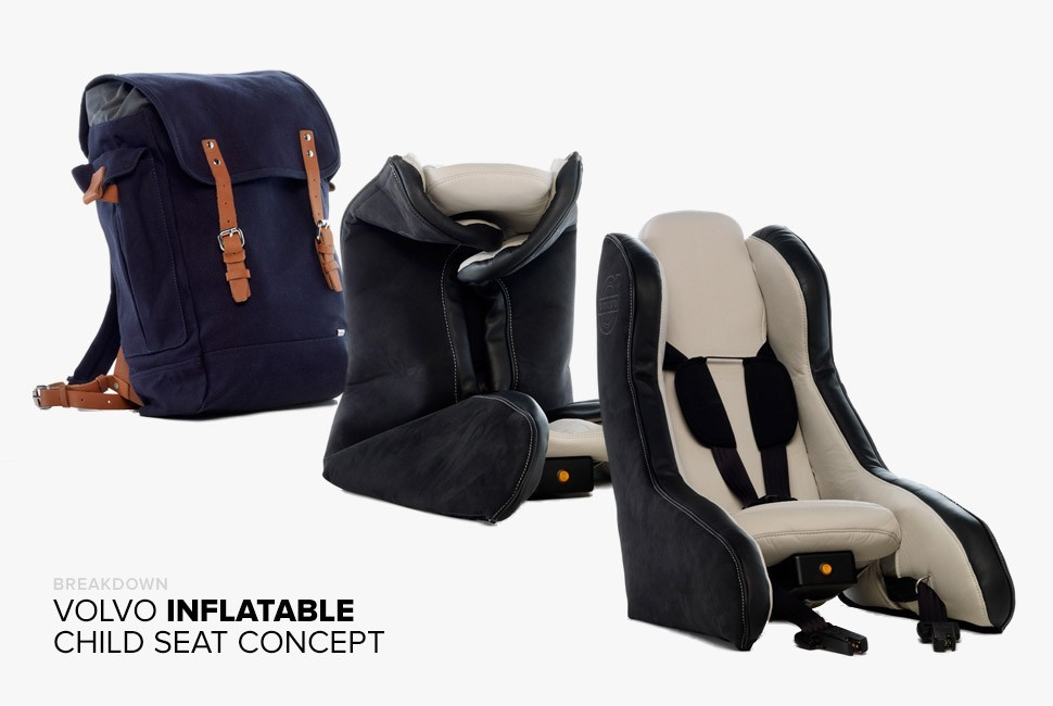 Volvo Isn T Afraid To Try New Things With Inflatable Those Include Its Pedestrian Airbag And Now A Child Safety Seat Concept