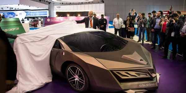 The Elibriea – Qatar Unveil First Home-grown Supercar Constructed by Carbon Fiber & Painted Gold