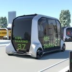 Futuristic Self-Driving Pizza Delivery Vans